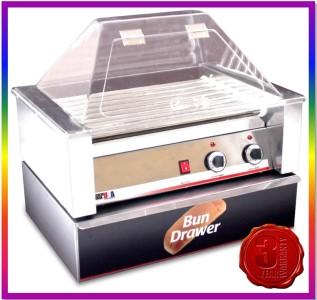 New 30 hotdog hot dog roller grill machine cooker warmer - Hot dog roller grill with bun warmer ...