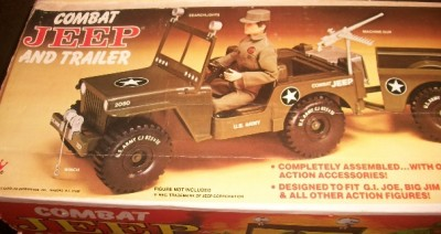 vintage 1976 empire combat jeep tailer box for big jim gi. Black Bedroom Furniture Sets. Home Design Ideas