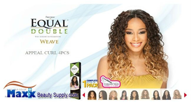 Freetress equal double weave synthetic hair appeal curl 4pc product description pmusecretfo Image collections