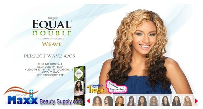 Freetress equal double weave synthetic hair perfect wave 4pc product description pmusecretfo Gallery