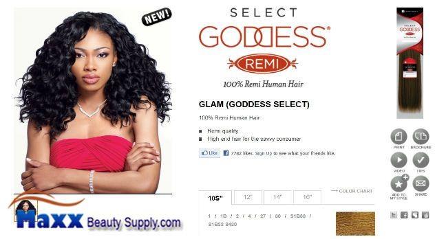 Sensationnel Goddess Select Remi Human Hair Weave Glam 16 7499