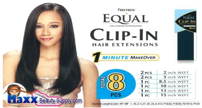 Freetress equal clip in hair extensions 8 pcs 1418 1999 ebay image hosting at auctiva freetress equal clip in synthetic extensions pmusecretfo Choice Image