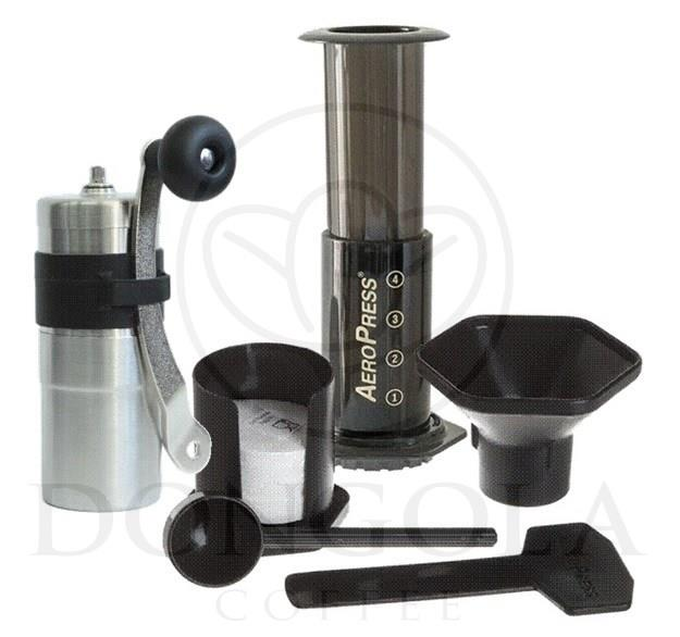 Espresso Coffee Maker Combo Grinder : AEROPRESS Espresso Coffee Maker Brewer + PORLEX Mini Ceramic Burr Grinder Combo