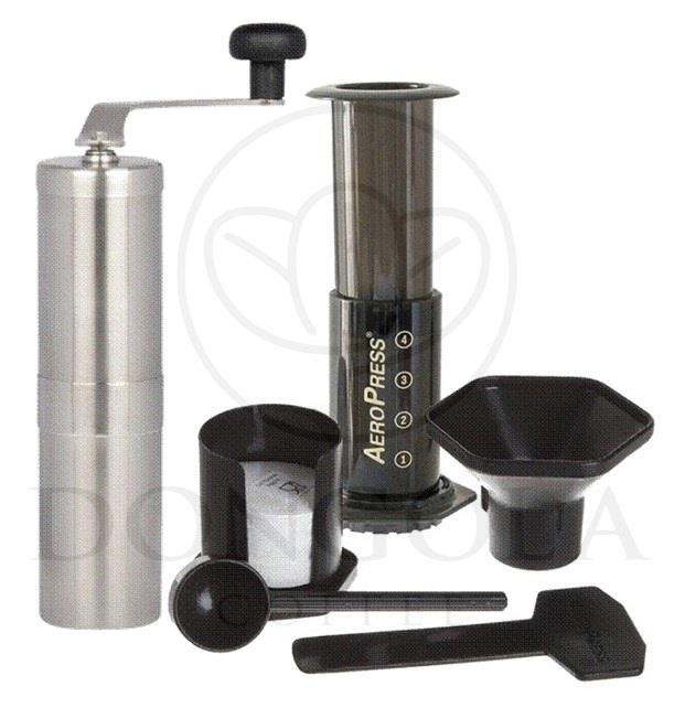 Espresso Coffee Maker Combo Grinder : AEROPRESS Espresso Coffee Maker Brewer + PORLEX Tall Ceramic Burr Grinder Combo eBay