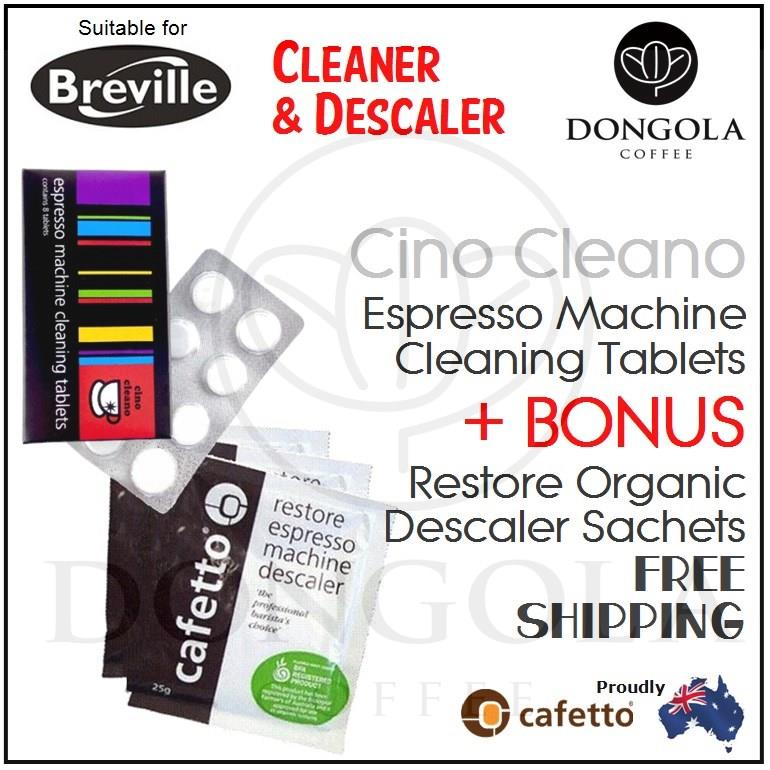 Breville Coffee Maker Descale Instructions : BREVILLE Espresso Coffee Machine Cleaning Tablets BEC250 Cafetto Cino Cleano eBay