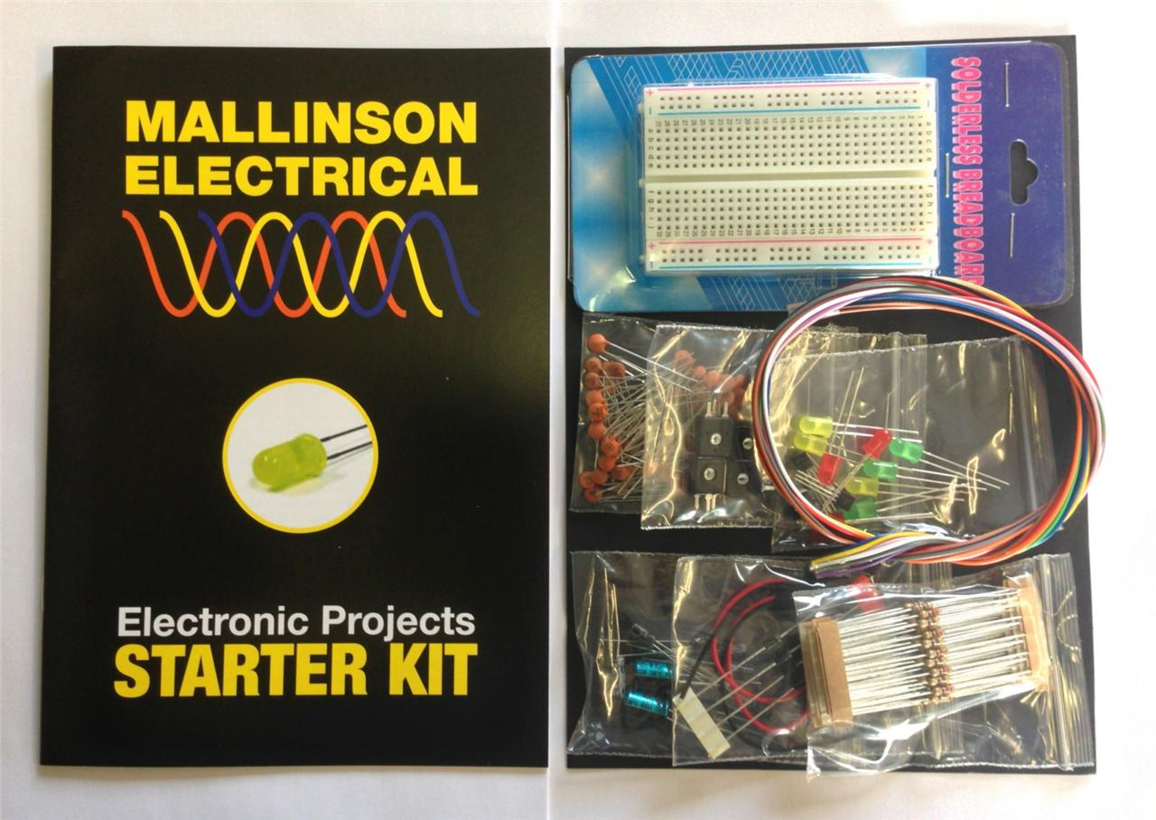 Electronic Project Beginners Starter Kit Quality Components Pack Projects For Circuits Image Is Loading