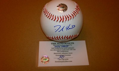 David Freese Signed Autographed Rawlings Baseball w COA Cardinals