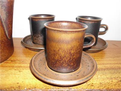Vintage Arabia Finland Ruska Large Coffee Pot 1 2litres 6