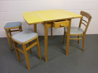 vintage 1950s 60s kitchen table and chairs retro cafe style formica