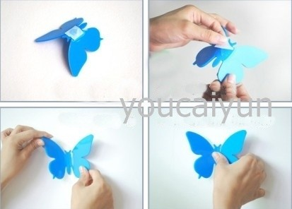 20 pcs diy 3d wall stickers butterfly home decor room for 3d wall butterfly decoration