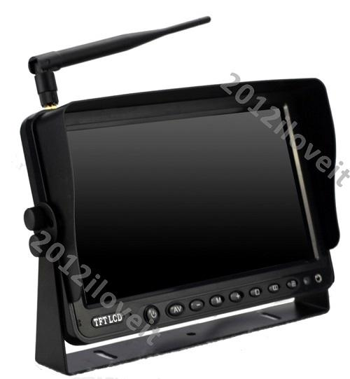 Skid Steer Backup Camera System : Quot wireless rear view backup camera system cctv for skid