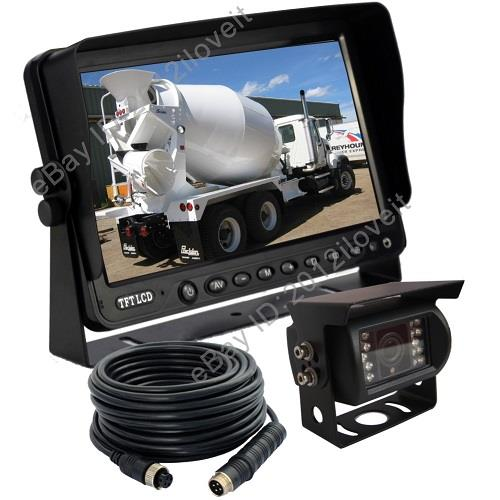 Skid Steer Backup Camera System : Quot rear view backup camera system cctv for skid steer rv