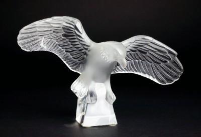 Lalique Eagle w Outspread Wings Beatiful Vintage Art Glass Nice