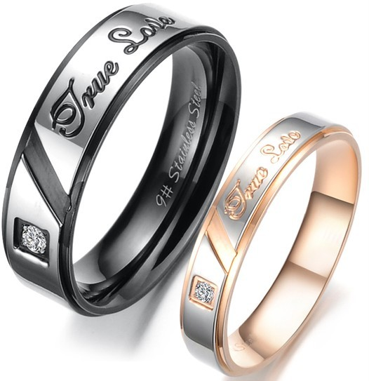 details about titanium wedding ring black gold for him her size 5 6 7