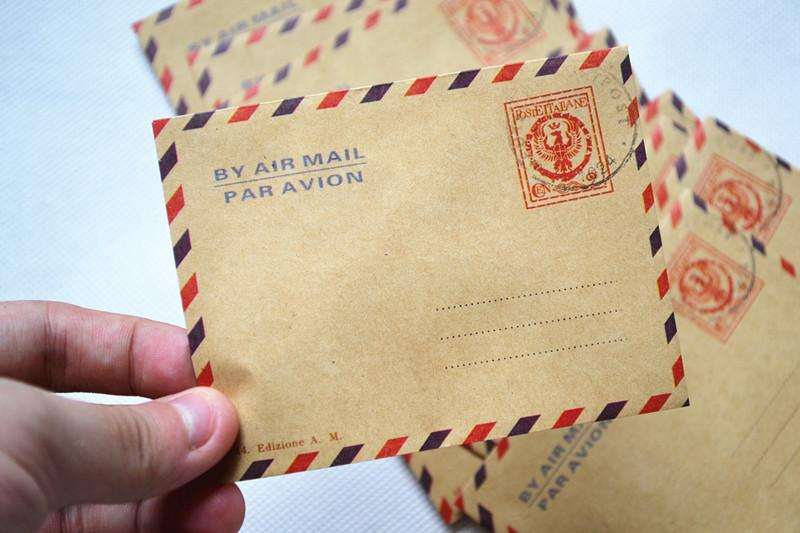 creating vintage postcard envelope