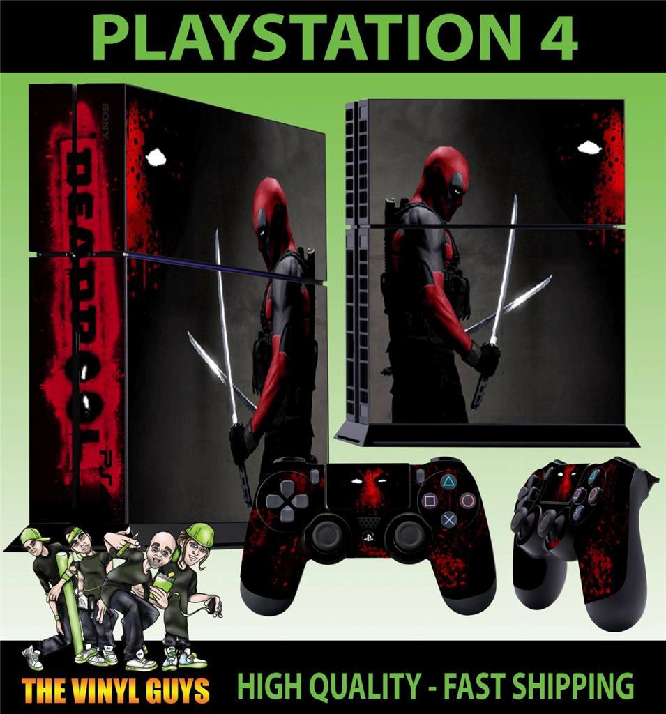 PS4 PLAYSTATION 4 CONSOLE STICKER DEADPOOL MERCENARY WADE ...