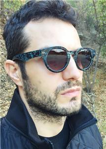 cool mens eyeglasses  mens round brown blue