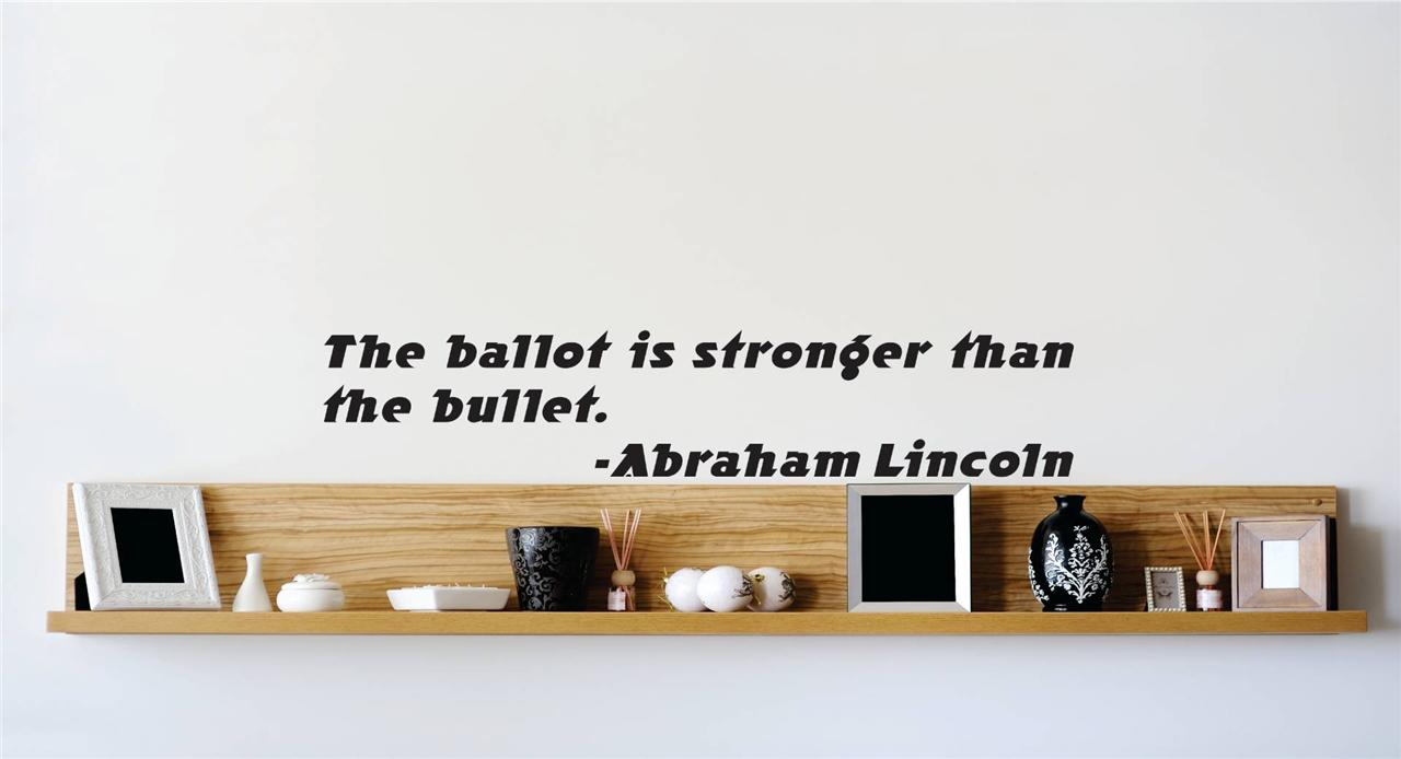 President Abraham Lincoln Quote Vinyl Decal Home Decor
