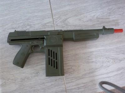 Consider, that Vintage toy wooden machine gun