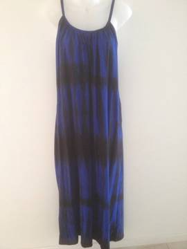 NEW-Ladies-Tie-Dye-Summer-Dress-Plus-Size-OS-Fits-18-20-22-Blue-Black