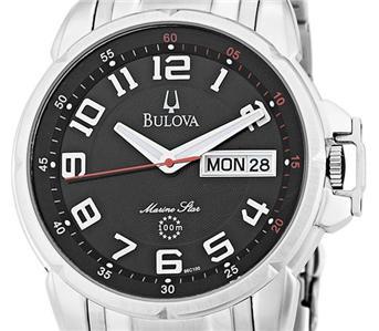 Bulova Men's 96C100 Marine Star Stainless Steel Bracelet Watch