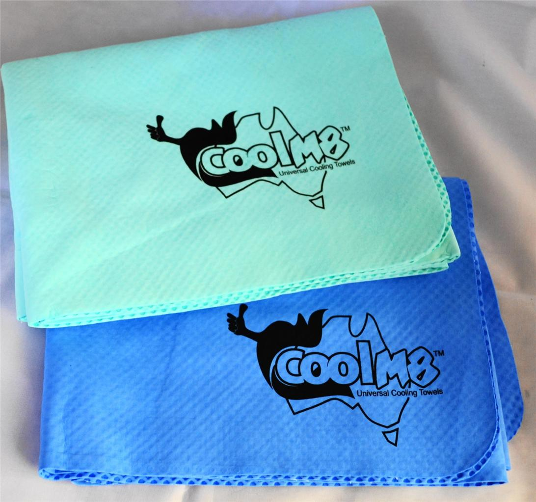 Cool M8 Universal Cooling Towel With Free Collapsible Drink Bottle Gift