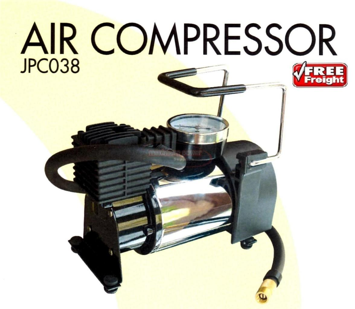 AIR-COMPRESSOR-12V-DC-0-3HP-30-LTR-TYRE-INFLATOR-PUMP-CAR-4WD-4X4-PORTABLE-NEW