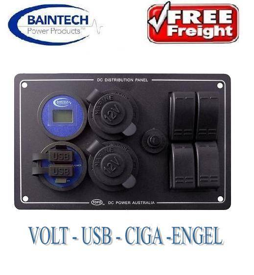 BAINTECH-DC-POWER-DISTRIBUTION-PANEL-VOLTMETER-DUAL-USB-CIGA-ENGEL-20A-BTCP005R