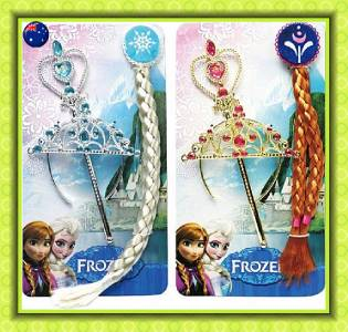 3pcs set disney frozen princess queen elsa anna tiara wand for Anna wand