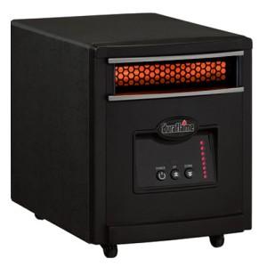 DURAFLAME 7HM1000 Portable Mini Infrared Electric Heater 600 Sq Ft