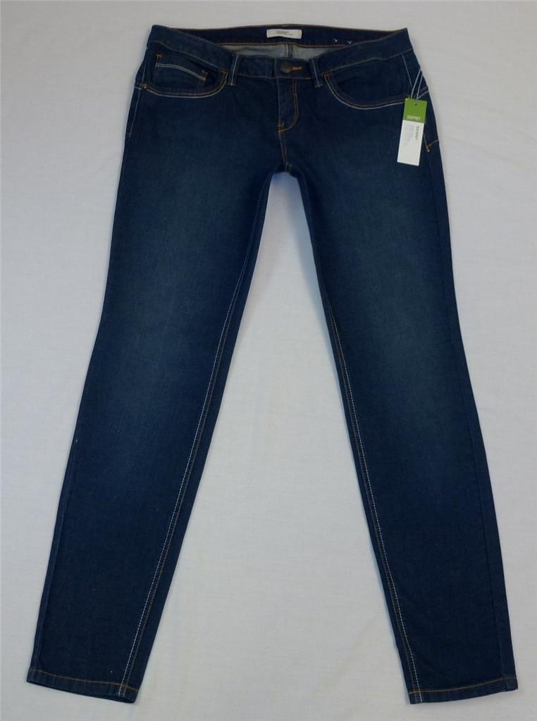 New-Esprit-Skinny-Leg-Stretch-Jeans-Size-14-BNWT-Lower-Rise
