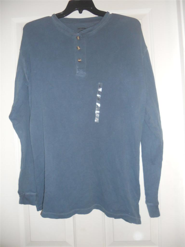 Mens henley shirts sizes large xl 2xl by reel legends for Mens xl tall henley shirts