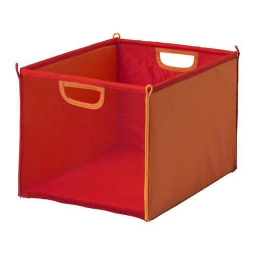 kusiner ikea mesh box foldable saves space green or red toy storage ebay. Black Bedroom Furniture Sets. Home Design Ideas