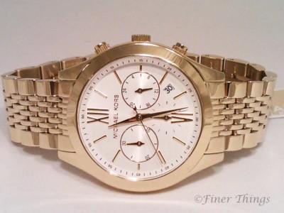 Michael Kors MK5762 Brookton Gold Tone Stainless Chronograph Women's Watch NIB