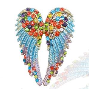 18K Gold GP Angel Wing Brooch Pin Multi Swarovski Crystal 10 Items