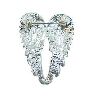 Stunning Angel Wing Brooch Pin Blue Swarovski Crystal 10 Items Free