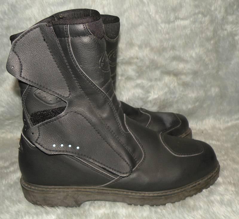 mens sidi black leather motorcycle boots usa sz 9 5 uk 9