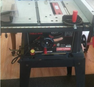 Craftsman 10 Inch Table Saw With Stand Used Working Condition Model Ebay