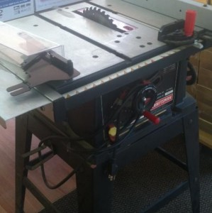 Craftsman 10 inch table saw with stand used working for 10 inch table saw craftsman