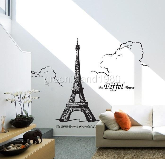 the eiffel tower stickers wall decal removable art vinyl