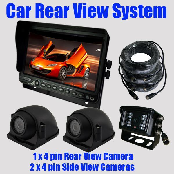 A29 Car Rear View Kits Reversing Camera 2x Side View