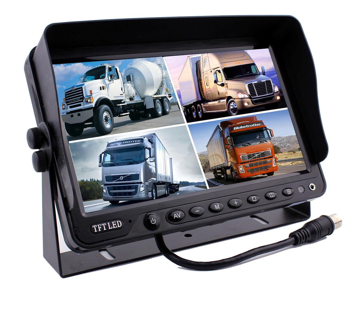 Rv Systems Monitor : Quot quad monitor with dvr backup cameras safety system for