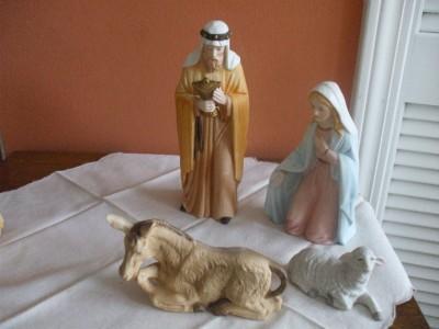 Vintage Home Interior Porcelain Nativity Set Ebay