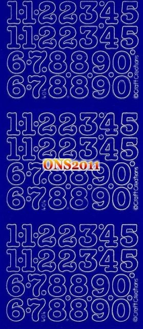 Peel-Off-Stickers-15mm-Numbers-DARK-BLUE-Scrapbooking-Card-Making
