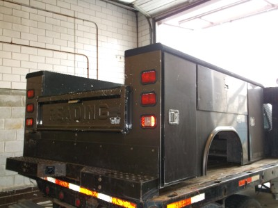 Details about Reading Utility Truck Bed, Brown, Stainless Steel ...