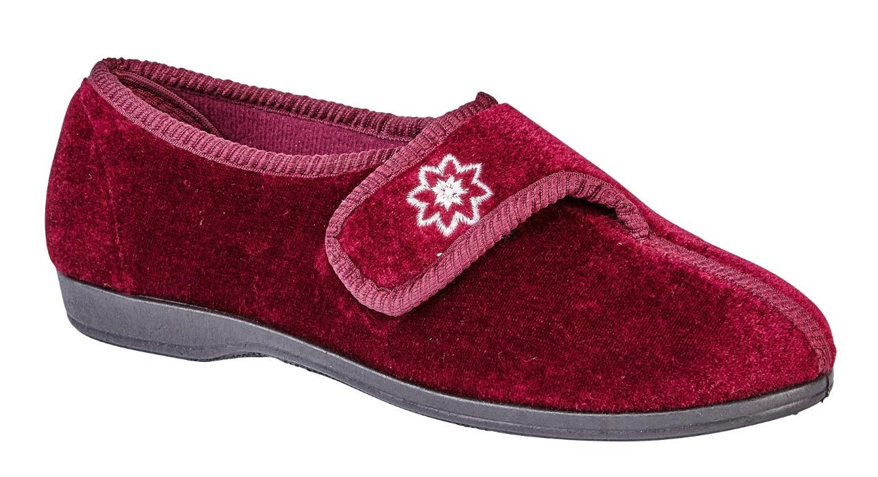 Señoras Mujeres de Lujo Lavable a máquina zapatos zapatillas de cinta Rip Azul Marino Brezo 345678