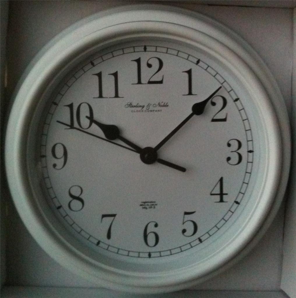 Multiple clocks wall decor : Mainstays classic look quot wall clocks metal hands multiple