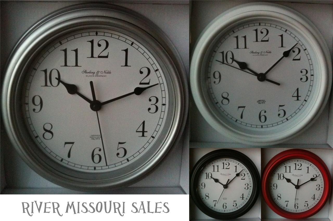 "Mainstays Classic Look 9"" Wall Clocks Metal Hands Multiple ..."