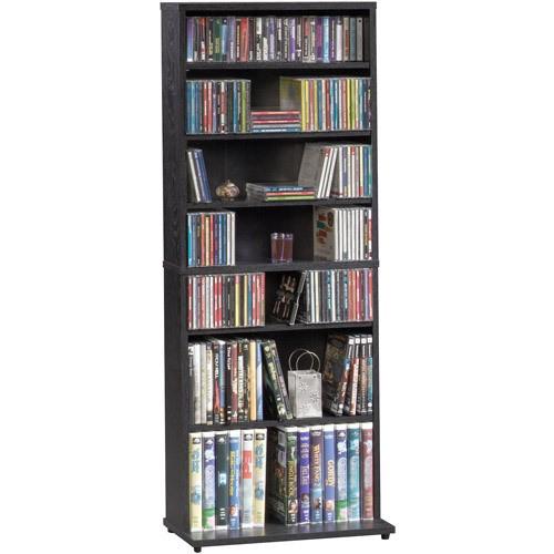 Multimedia Storage Tower W 7 Shelves Amp 5 Adjustable Shelf