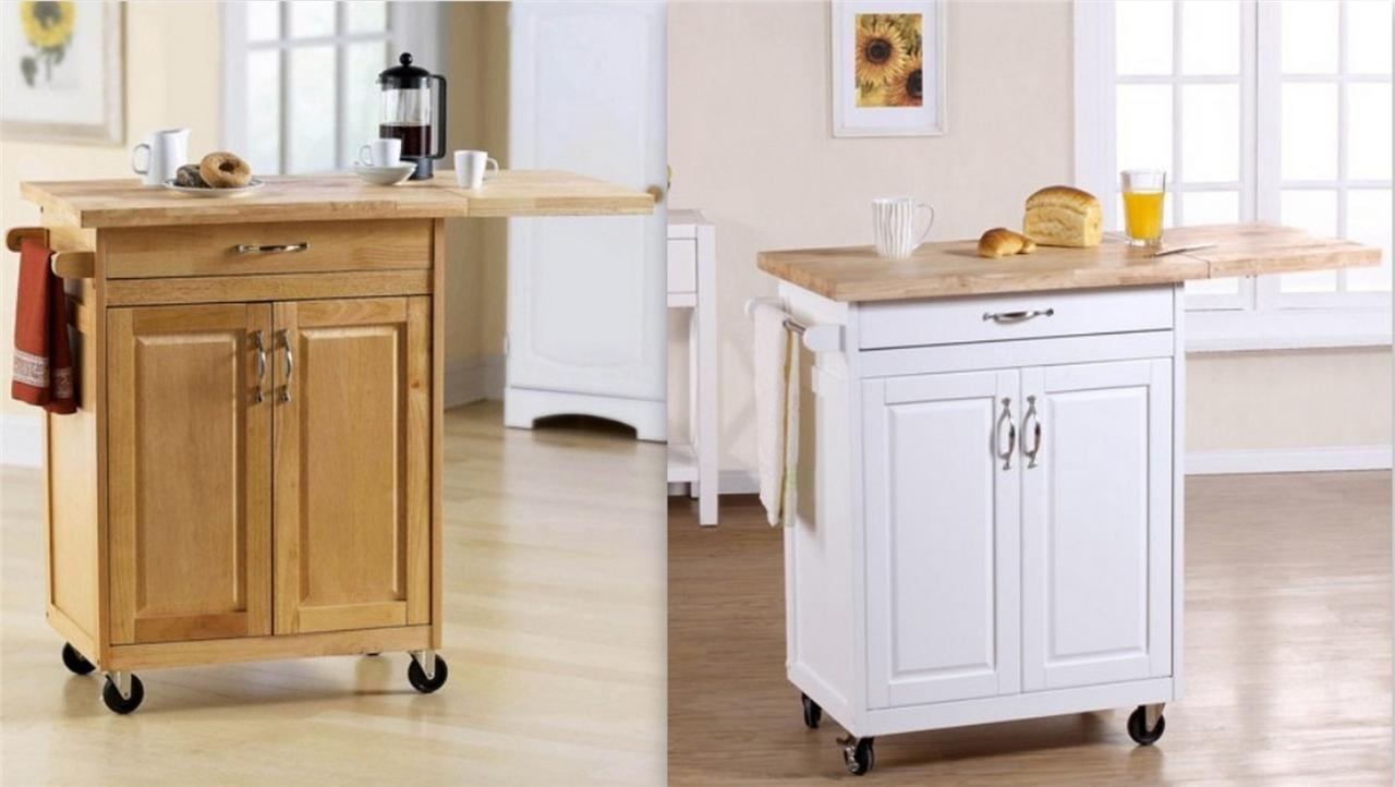 mainstays kitchen island cart w drop leaf panel and storage choice finishes new ebay. Black Bedroom Furniture Sets. Home Design Ideas